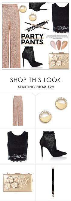 """""""#PolyPresents: Fancy Pants"""" by giada2017 on Polyvore featuring Temperley London, Bloomingdale's, Sans Souci, Stella Luna, Rimen & Co., Clarins, It Cosmetics, contestentry and polyPresents"""