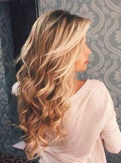 long curls + balayage