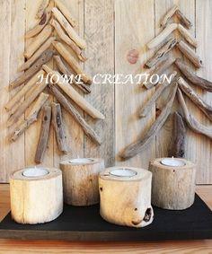 Bougeoir en bois flotté recyclé 100% fait main par HOME CREATION. Made in France ( Catalogne Nord 66) BOUTIQUE WEB :http://www.alittlemarket.com/boutique/home_creation-1828923.html