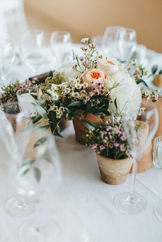 New zealand wedding from sutherland kovach studio wedding ideas potted plants table centrepieces junglespirit Images