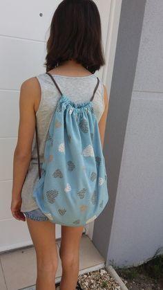 Je vous propose un tutoriel pour couture facile d'un sac à dos pochon avec…