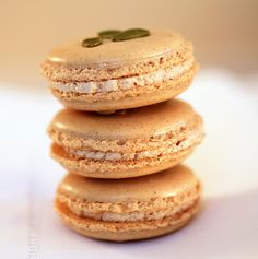 love this shot - Tish Boyle's Spiced Pumpkin Seed Macarons with Chestnut Buttercream - Gorgeous Color!!