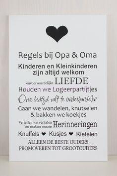 Regels bij opa en oma Qoutes, Diy Crafts, Memories, Map, Humor, My Love, Words, Funny, Gifts