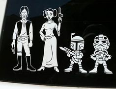 Star Wars Family Member Car Stickers.