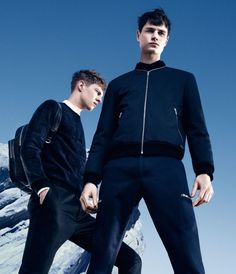 Andrew Westermann, Paul Boche and Tim Schuhmacher front the Fall/Winter 2014 campaign of Hugo by Hugo Boss, photographed by Pierre Debusschere. Male Photography, Fashion Photography, Street Style Trends, Two Men, Men Street, Fall Winter 2014, Portrait Photo, Hugo Boss, Menswear