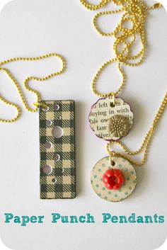 WhiMSy love: DIY: Paper Punch Pendants