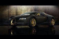 Black and gold Bugatti.