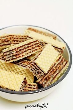 Polish Desserts, Cookies, Food To Make, Sweets, Bread, Baking, Recipes, Crack Crackers, Waffles