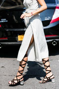 Street style at Fashion Week spring-summer 2017 New York