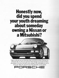 I did, actually, dream about a Nissan, but still love this ad.