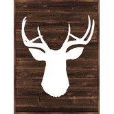 An artful addition to your gallery wall, this framed giclee print showcases a deer motif for rustic appeal. Product: Framed giclee printConstruction Material: Reclaimed wood, engineered wood and paper Color: Brown frameFeatures: Arrives ready to hang Deer Wall Art, Framed Wall Art, Wall Art Decor, Framed Prints, White Deer Heads, Deer Head Silhouette, Oh Deer, Frame Display, New Wall