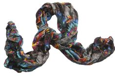 """This Beautiful polyester knit, crinkled Peacock design is a big seller.    56""""x17""""    Makes For a Wonderful Gift.    This Beautiful Bright Scarf can help complete your outfit."""