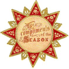 Wings of Whimsy: Compliments of the Season Star PNG (transparent bakcground) #vintage #printable #ephemera