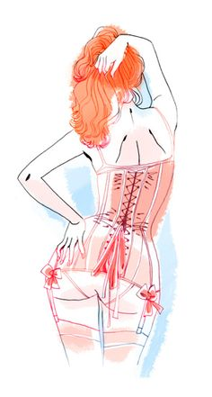 thelingerieaddict: thelingerielesbian: I love this illustration margueritesauvage: Bon week-end ! Love.