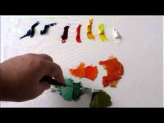 How to mix Color:Oil Painting-Split Primary Color Palette