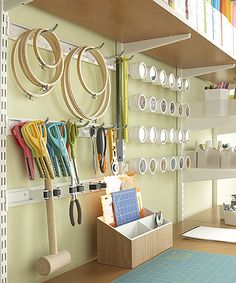 Going to put up pegboard for all my odds and ends in the sewing half of my utility room.