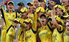 No.1: The Australian women's Twenty20 team after winning the final against England. Celebrate @APWSW #Melbourne