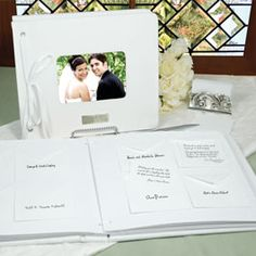 A great twist to the traditional guest book. It can go on the shelf, and is more interesting then just a list of names