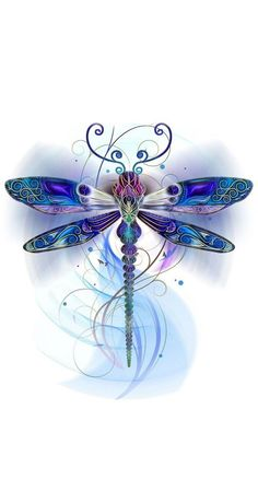 Dragonfly wallpaper by - - Free on ZEDGE™ Dragonfly Drawing, Dragonfly Tattoo Design, Dragonfly Art, Tattoo Designs, Watercolor Dragonfly Tattoo, Watercolor Tattoos, Dragonfly Tatoos, Dragonfly Painting, Abstract Watercolor