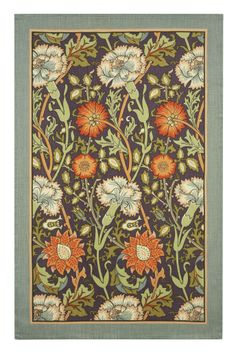 #Carnation Linen Tea Towel #floral #beautiful
