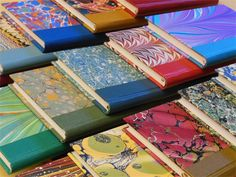 Ursula Jeakins, Bookbinder, Marbled books