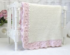Crochet Baby Blanket PATTERN 18 Sweet Heart Crochet Blanket
