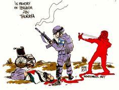"""Ο χρήστης Carlos Latuff στο Twitter: """"In memory of wheelchair-bound protestor Ibrahim Abu Thuraya, 29, who lost both legs in an Israeli missile strike in #Gaza in 2008, and that… https://t.co/mXEbVFNUwb"""""""