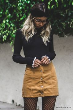 Corduroy Button-Front Skirt | Forever21