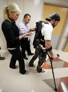 VA Medical Center receives bionic suit! Check out this article about advancement in technology for bionic suits versus wheelchairs for people with paralysis!