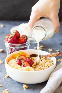 Get ready to try your favorite Peanut Butter Granola EVER! A recipe for a healthy mix of oats, peanuts, peanut butter and maple syrup!!