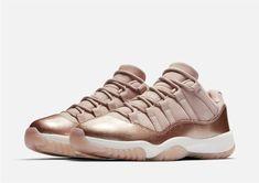 separation shoes e57fc 4d7e1 Women s Nike Air Jordan 11 Retro XI Low Rose Gold Metallic AH7860-105 Sizes  7