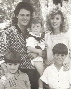 Donny & Debbie in 1986 with Don, Jeremy,and Brandon.