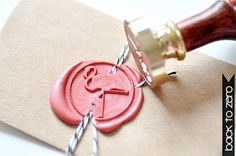 This wax seal stamp. | 15 Random Gifts For That One Friend Who Really Loves Flamingos