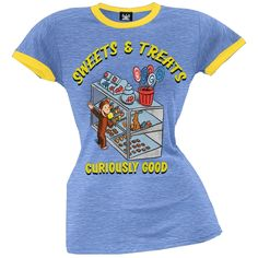 Curious George - Curiously Good Juniors T-Shirt | OldGlory.com