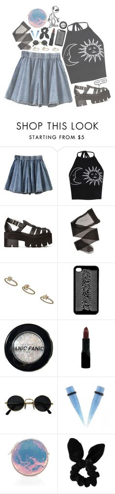 """""""Good Vibes"""" by erikab1000 ❤ liked on Polyvore featuring Boohoo, Jeffrey Campbell, Topshop, Manic Panic NYC, Rimmel and Zilla"""