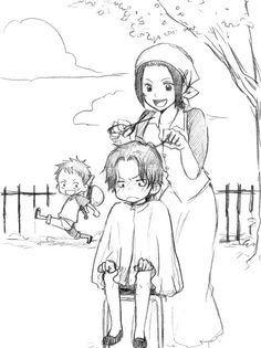 One Piece, Ace, Luffy, Makino