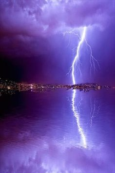 Different hues of purple is perfect to show the fury of the lightening...