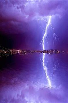 purple lightening