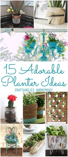 15 DIY Planter Ideas - Craftaholics Anonymous Gardening Ideas, DIY projects, outdoor projects, spring, spring DIYs