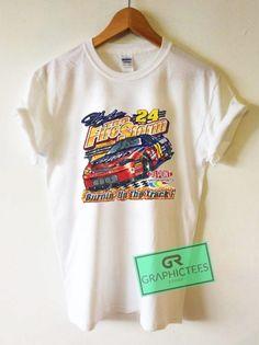 804890cd Vtg Jeff Gordon Fire Storm 24 Nascar Graphic Tees Shirts //Price: $13.50 /