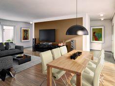 Blick in den stilgerecht gestalteten Wohnbereich in der Variante Klassik.