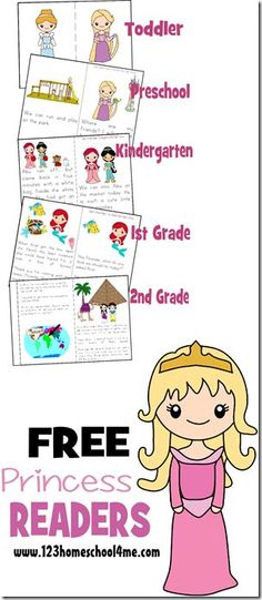 FREE Princess Reader Printable Books