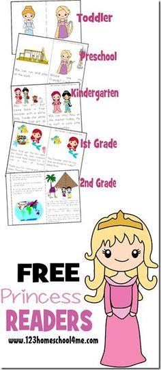 free princess reader printable books - Printable Kindergarten Books