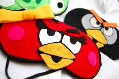 EASY DIY FELT Angry Bird Eye Covers