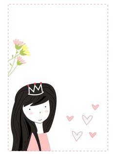Princess Party. Invitaciones para fiesta de princesas/ Princess party invitations http://dibujos-para-colorear.euroresidentes.com/2013/04/tarjetas-de-cumpleanos-de-princesas.html