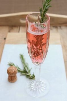 champagne cocktail idee recette noel thym
