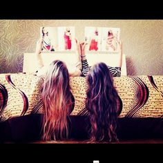 long hair. the hair on the righttt <3