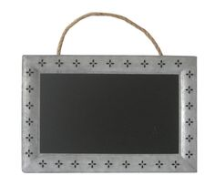Cheung's Rectangular Chalk Board With Galvanized Metal Frame Featuring Cutout Petals And Hanging Rope Chalkboard Stand, Hanging Chalkboard, Magnetic Chalkboard, Chalkboard Designs, Magnetic Wall, Framed Chalkboard, Home Organization Wall, Burlap Wall, Cork Wall