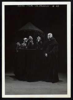 Dr. Faustus, by Christopher Marlowe. Billy Rose Theater Collection photograph file. NYPL Digital Gallery.