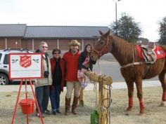 """Salvation Army of Lubbock supporter Carl Tepper, and his horse Seaford, spent a few hours at the Hitching Post of the United Market Street to raise money for the Salvation Army. Tepper said there was a good response to his special fundraiser effort, """"We've had a really good day with the buckets (Red Kettles) today, and we had some great attention from the media which helped too."""" Seaford the horse was a big hit with kids, but Tepper says your donations are still needed for the Christmas…"""